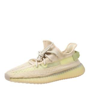 Yeezy x Adidas Flax Cotton Knit Boost 350 V2 Sneakers Size 44