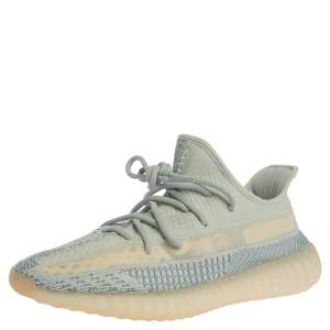 Yeezy x Adidas Light Blue Cotton Knit Boost 350 V2 Non-Reflective Sneakers Size 43.5