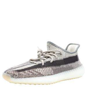 Yeezy Brown/Beige Cotton Knit Boost 350 V2 Zyon Sneakers Size 46 2/3