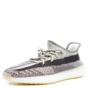 Yeezy x Adidas Gray Cotton Knit 350 V2 Zyon Sneakers Size 42 2/3
