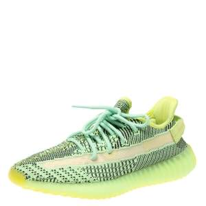 Yeezy x Adidas Green Knit Fabric Boost 350 V2 Yeezreel Non-Reflective Sneakers Size 42.5