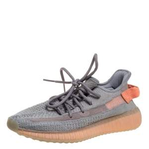 Adidas Yeezy Grey Knit Fabric And Mesh Boost 350 V2 Tail Light Sneakers Size 40