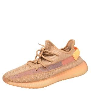 Yeezy x adidas Clay Cotton Knit Fabric Boost 350 V2 Sneakers Size 43 1/3