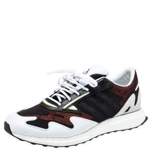 Adidas Y-3 Multicolor Suede And Mesh Rhisu Run Sneaker Size 45.5