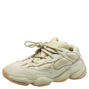 Yeezy x Adidas Green Suede and Fabric Yeezy 500 Stone Sneakers Size 38.5