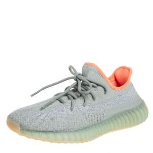 Yeezy x adidas Green Knit Fabric Boost 350 V2 Desert Sage Sneakers Size 42 2/3