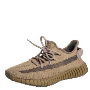Yeezy x adidas Brown Knit Fabric Boost 350 V2 Earth Sneakers Size 38 2/3