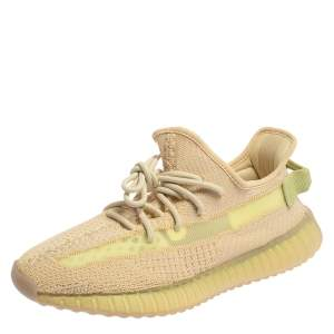 Yeezy Flax Cotton Knit Boost 350 V2 Sneakers Size 42 2/3