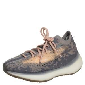 Yeezy x adidas Grey Knit Fabric Boost 380 Mist Sneakers Size 40 2/3
