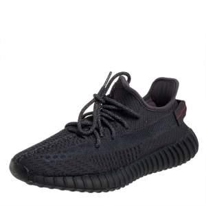 حذاء رياضي ييزي x أديداس بوست 350 في تو قماش تريكو أسود عنق منخفض مقاس 42 2/3