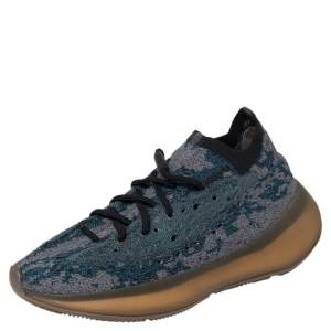 Yeezy x adidas Blue/Grey Knit Fabric Boost 380 Covellite Low Top Sneakers Size 41 1/3