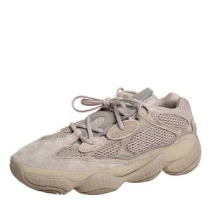 Adidas x Yeezy Beige Mesh And Suede 500 Taupe Light Sneakers Size 44 2/3