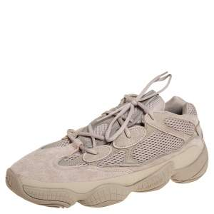 Yeezy x Adidas Beige Mesh And Suede 500 Taupe Light Sneakers Size FR 47 1/3