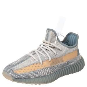Yeezy x adidas Grey/Beige Knit Fabric Boost 350 V2 Israfil Low Top Sneakers Size 40 2/3
