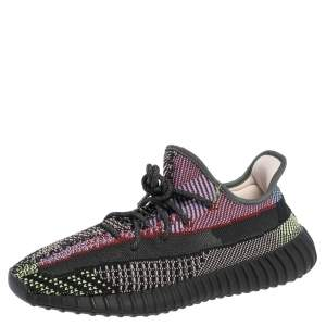 Yeezy x Adidas Multicolor Knit Fabric Boost 350 V2 Yecheil Sneakers Size 45 1/3
