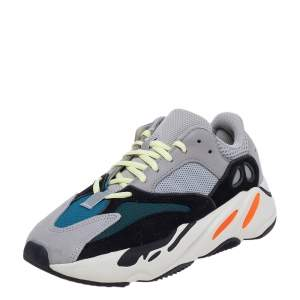 Yeezy x adidas Multicolor Suede And Mesh Boost 700 Wave Runner Low Top Sneakers Size 40 2/3