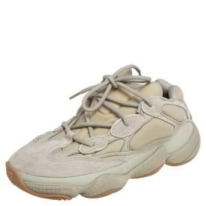 Yeezy x Adidas Green Neoprene and Suede Yeezy 500 Stone Sneakers Size 40