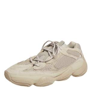 Yeezy x Adidas Beige Mesh And Suede 500 Taupe Light Sneakers Size 44