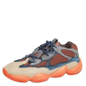 حذاء رياضي اديداس X ييزي 500  بوست إنفلام شبك وسويدي متعدد الألوان مقاس 44