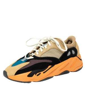 Yeezy x Adidas Multicolor Mesh And Suede Boost 700 Enflame Amber Sneakers Size 42