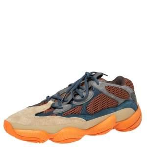 حذاء رياضي اديداس X ييزي 500  بوست إنفلام شبك وسويدي متعدد الألوان مقاس 45 1/3