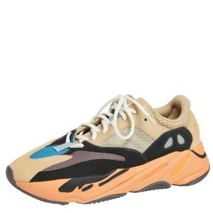 Yeezy x Adidas Multicolor Mesh And Suede Boost 700 Enflame Amber Sneakers Size 43 1/3