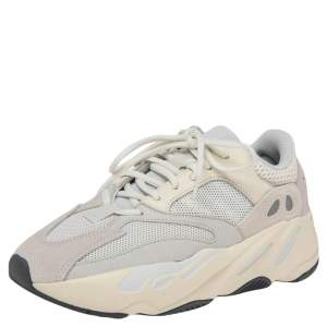 Yeezy x Adidas White Leather, Suede And Mesh Boost 700 Analog Sneakers Size 40