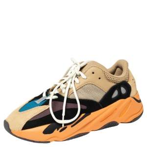 Yeezy x Adidas Multicolor Mesh And Suede Boost 700 Enflame Amber Sneakers Size 40 2/3