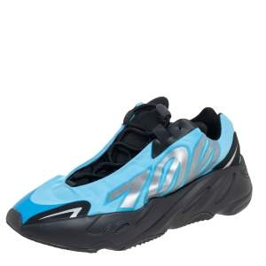 Yeezy x Adidas Blue Nylon Boost 700 MNVN Bright Cyan Sneakers Size 42