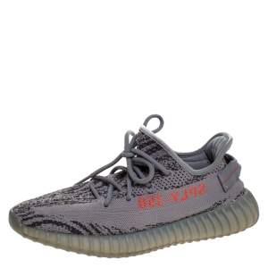 حذاء رياضي ييزي × اديداس بوست 350 V2 بيلوغا تريكو قطن رصاصي مقاس 42.5