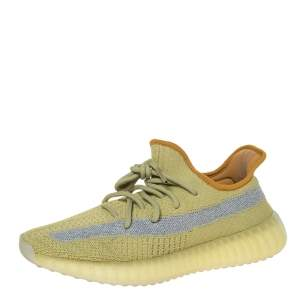 Yeezy x Adidas Yellow Cotton Knit Boost 350 V2 Marsh Sneakers Size 42
