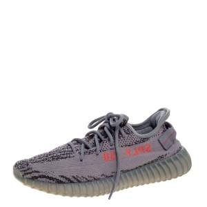 Yeezy x Adidas Grey Cotton Knit Boost 350 V2 Beluga 2.0 Sneakers Size 43.5
