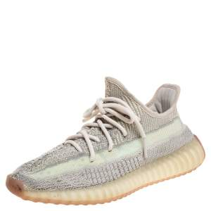 Yeezy x Adidas Grey Boost 350 V2 Citrin Non Reflective Sneakers Size 39 1/3