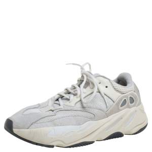 Yeezy x Adidas White Leather, Suede And Mesh Boost 700 Analog Sneakers Size 42