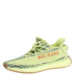 Yeezy x Adidas Green Cotton Knit Semi Frozen Boost 350 V2 Sneakers Size 44