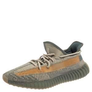 Yeezy x Adidas Grey/Beige Knit Boost 350 V2 Israfil Sneakers Size 46