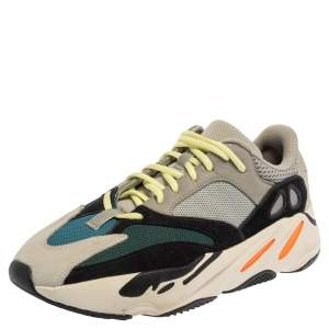 Yeezy x adidas Multicolor Mesh And Suede Leather Boost 700 Wave Runner Sneakers Size 44 2/3