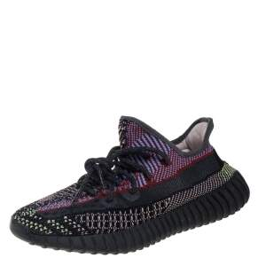 Yeezy x Adidas Multicolor Yecheil Cotton Knit Boost 350 V2 Sneakers Size FR 40 2/3