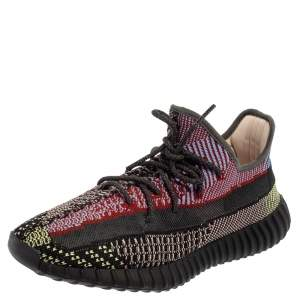 Yeezy x Adidas Multicolor Knit Fabric 350 V2 Yecheil (Non Reflective) Low Top Sneakers Size 45 1/3