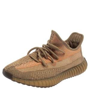 Yeezy x adidas Brown Knit Fabric Boost 350 V2 Sand Taupe Sneakers Size 41 1/3