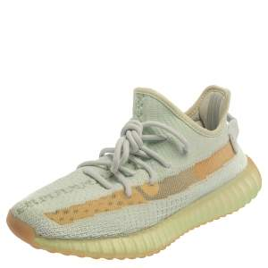 Yeezy x Adidas Light Green Knit Fabric Boost 350 V2 Hyperspace Sneakers Size 39 1/3