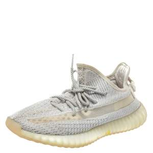 Yeezy x adidas White Knit Fabric Boost 350 V2 Yeshaya Sneakers Size 44 2/3