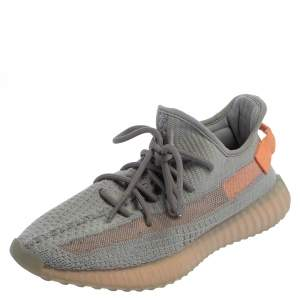 Yeezy x Adidas Grey Knit Fabric Boost 350 V2 Tail Light Sneakers Size 41 1/3