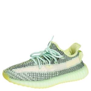 Yeezy x adidas Green Knit Fabric Boost 350 V2 Yeezreel Sneakers Size 40