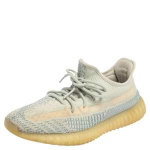 Yeezy x adidas Blue/White Knit Fabric Boost 350 V2 Cloud White Sneakers Size 42 2/3