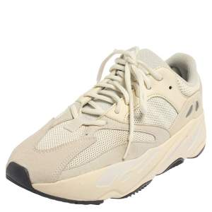 Yeezy x adidas White Mesh And Suede Boost 700 Analog Sneakers Size 42 2/3