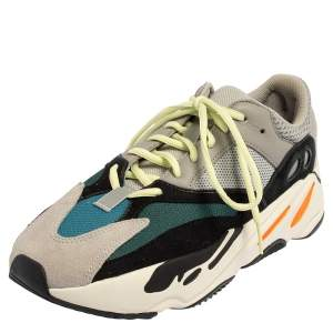 Yeezy x adidas Multicolor Suede And Mesh Boost 700 Wave Runner Sneakers Size 42 2/3