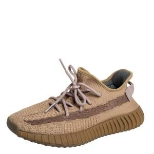 Yeezy x adidas Brown Knit Fabric Boost 350 V2 Earth Sneakers Size 42 2/3