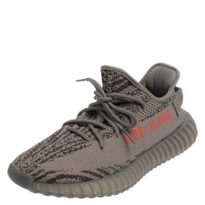 Yeezy x Adidas Grey Cotton Knit Boost 350 V2 Beluga Sneakers Size 42.5
