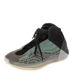 Yeezy x Adidas Teal Blue/Grey Cotton Knit Quantum Sneaker Size 46 2/3